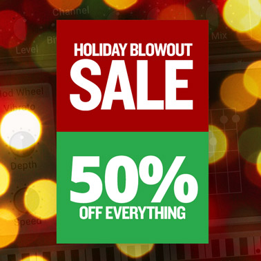 Holiday Blowout Sale – 50% Off Everything