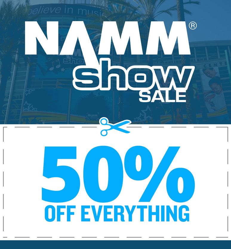 NAMM Show Sale 50% off