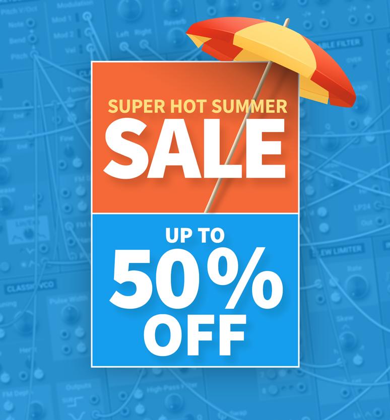 Summer Sale, fantastic deals, up to 50% off